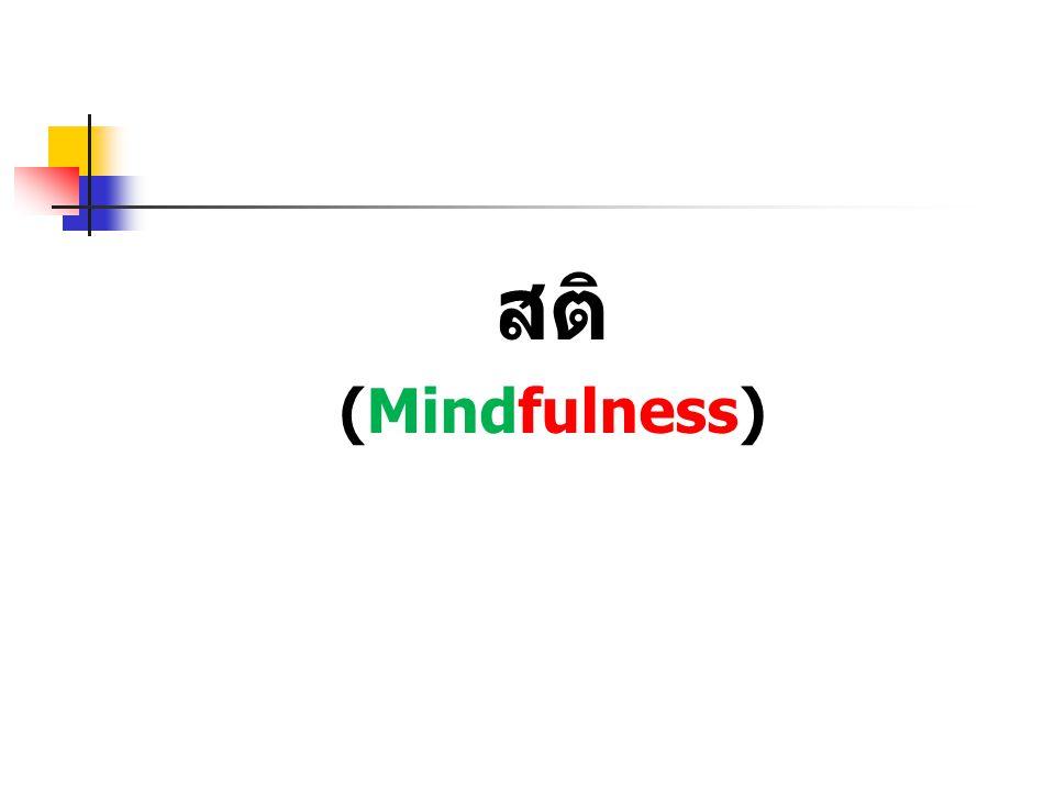 สติ (Mindfulness)