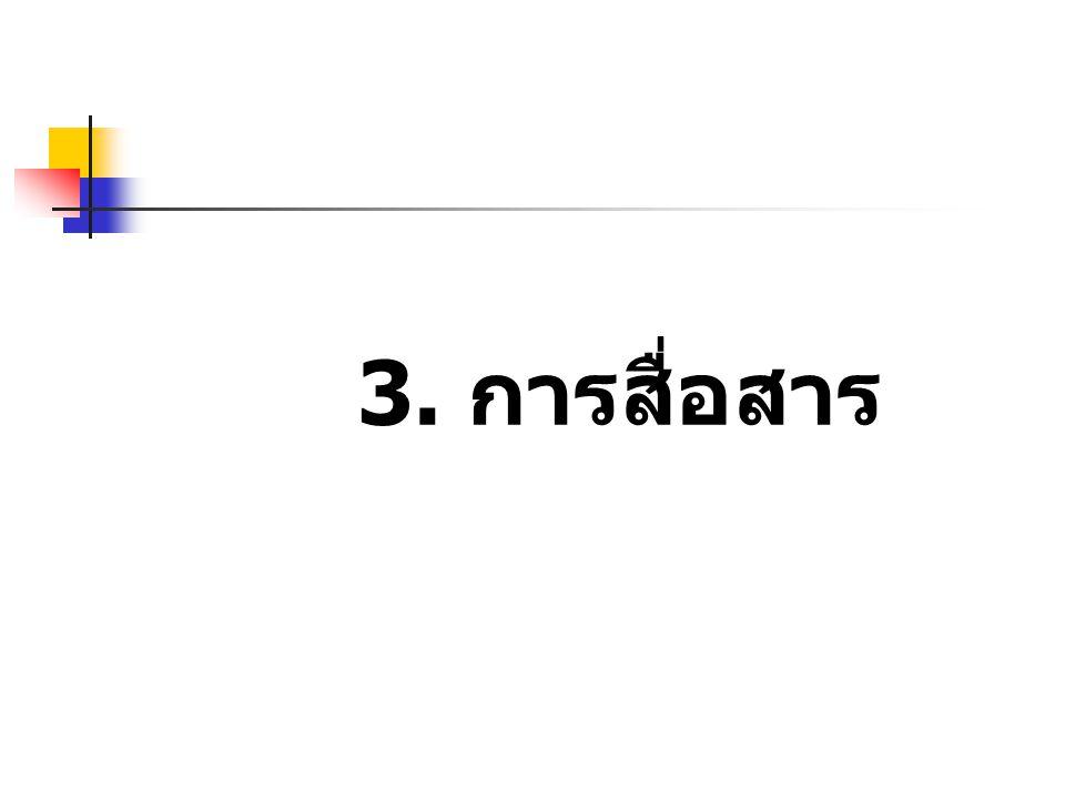 3. การสื่อสาร