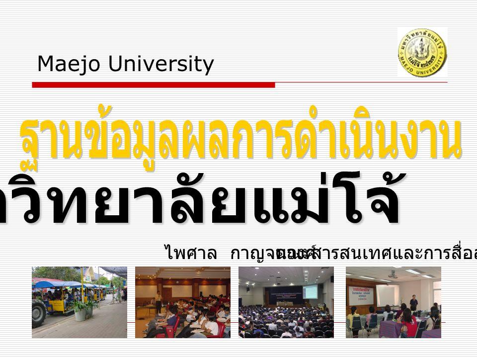 มหาวิทยาลัยแม่โจ้ Maejo University ไพศาล กาญจนวงศ์คณะสารสนเทศและการสื่อสาร