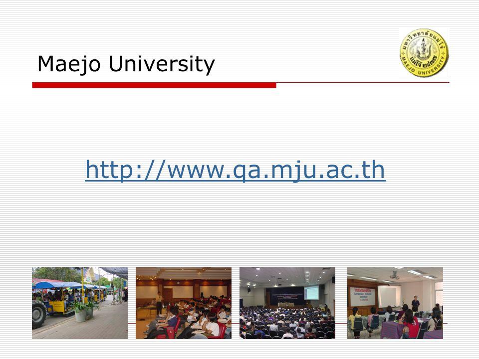 Maejo University http://www.qa.mju.ac.th