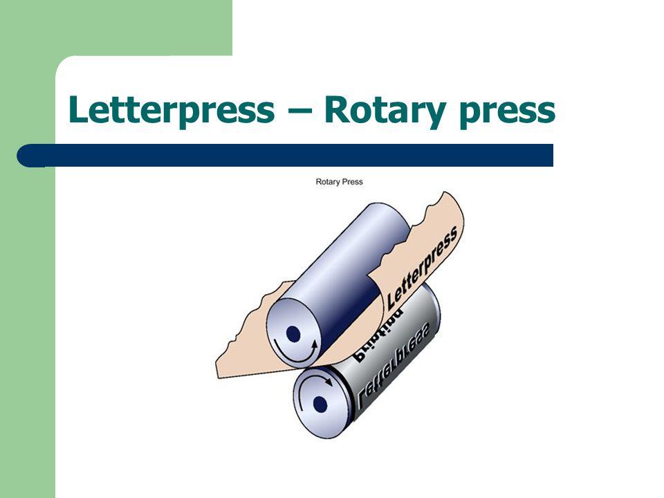 Letterpress – Rotary press