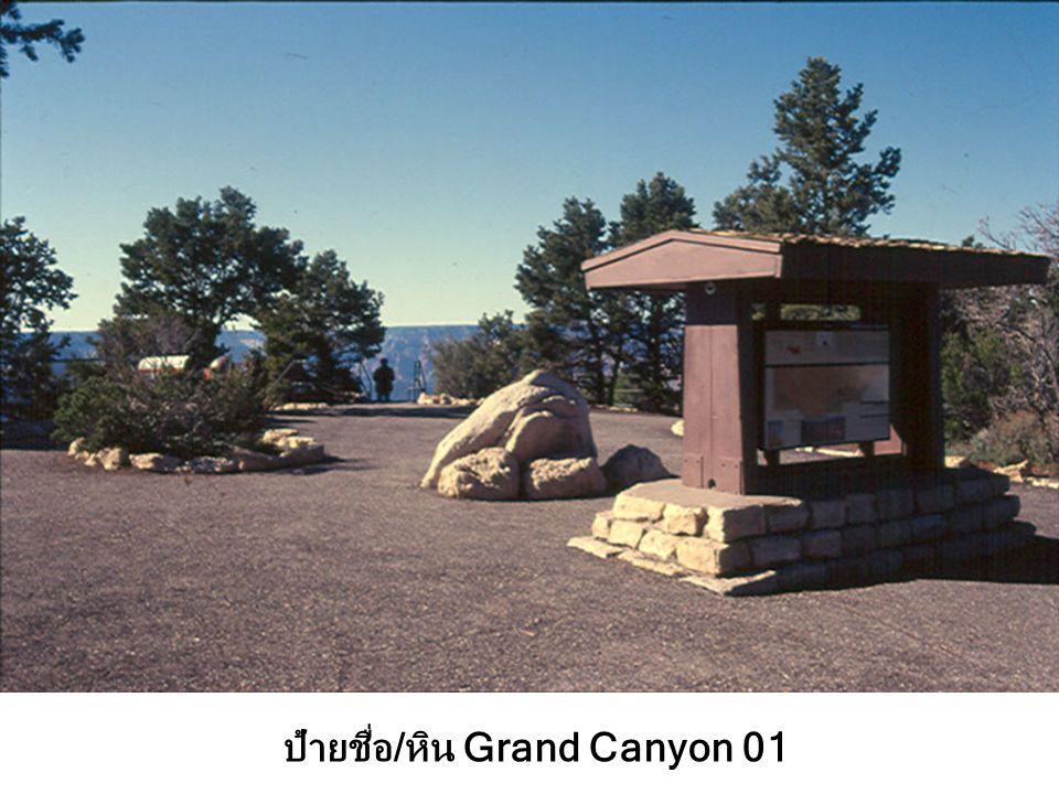 ป้ายชื่อ/หิน Grand Canyon 01