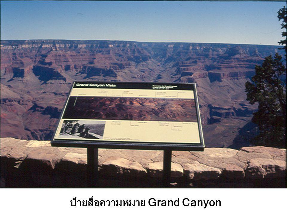 ป้ายสื่อความหมาย Grand Canyon