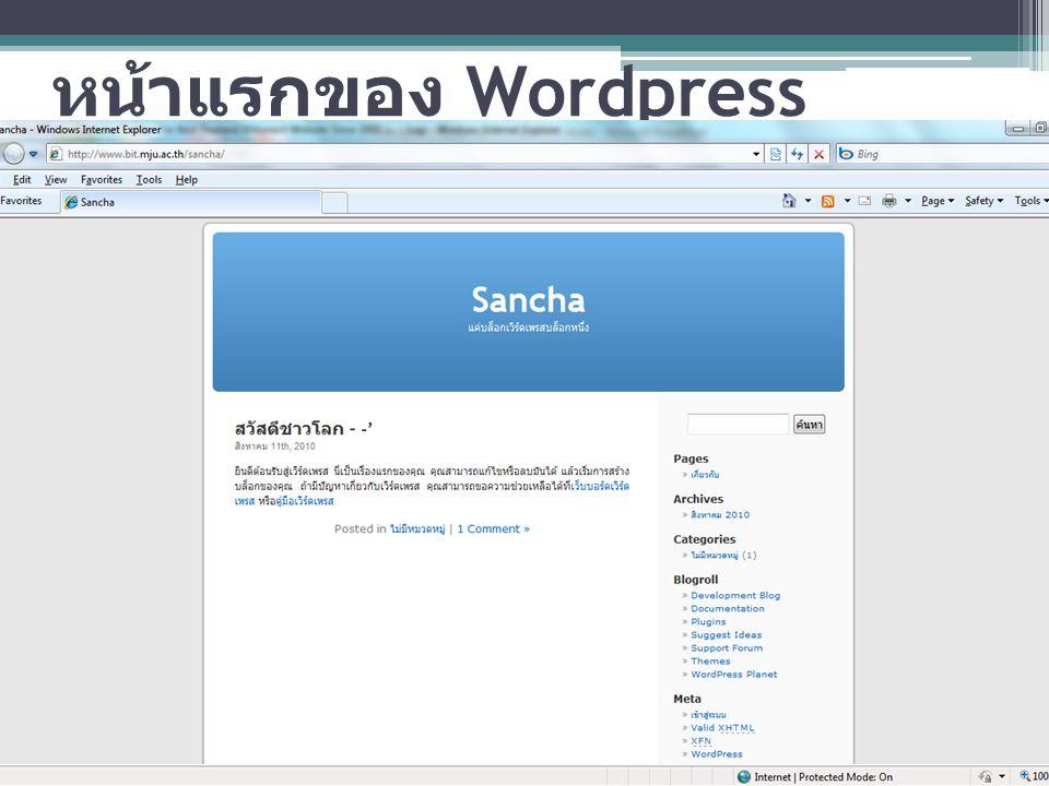 หน้าแรกของ Wordpress