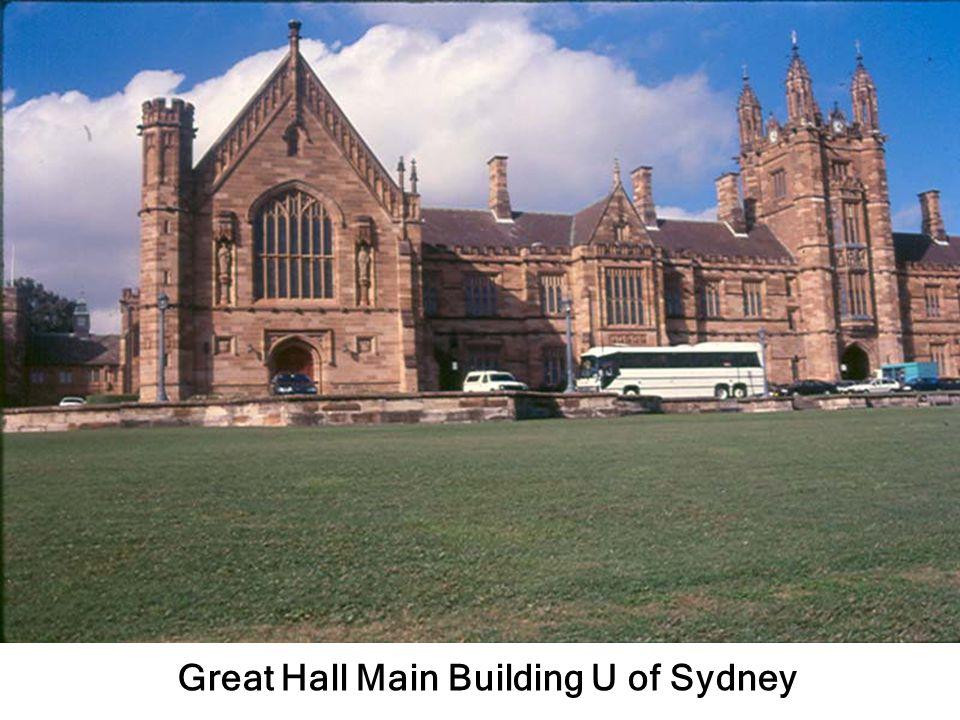 สถาปัตยกรรม U of Sydney 1850