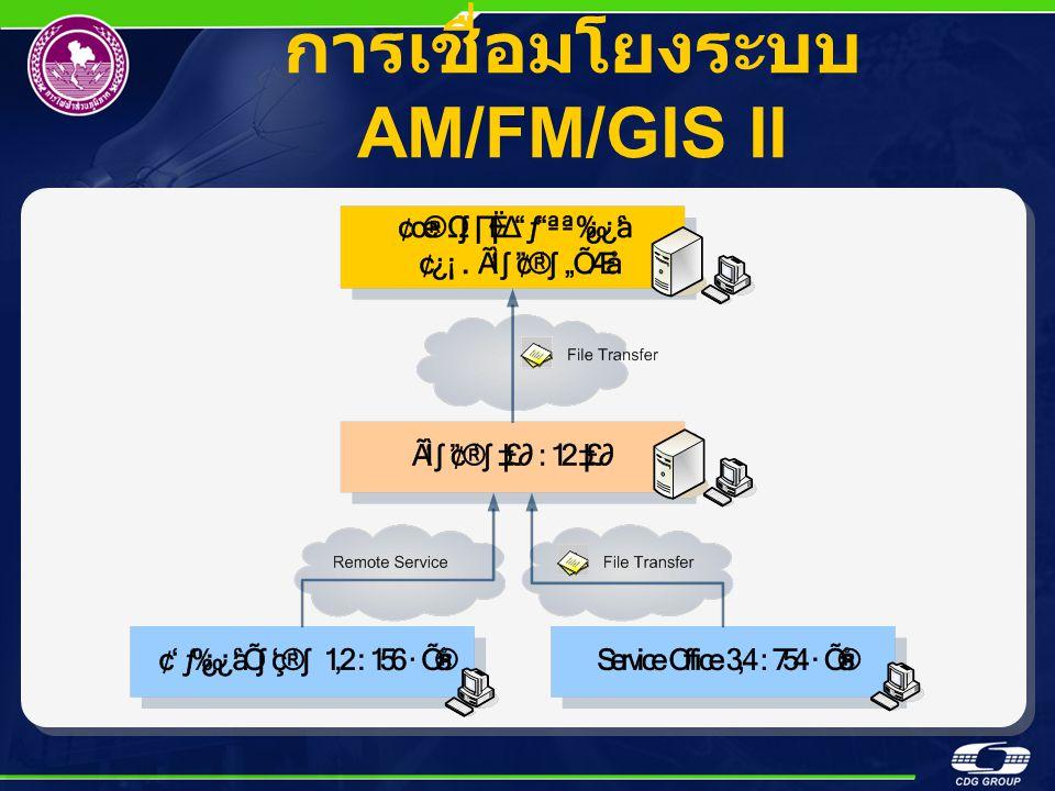 การเชื่อมโยงระบบ AM/FM/GIS II