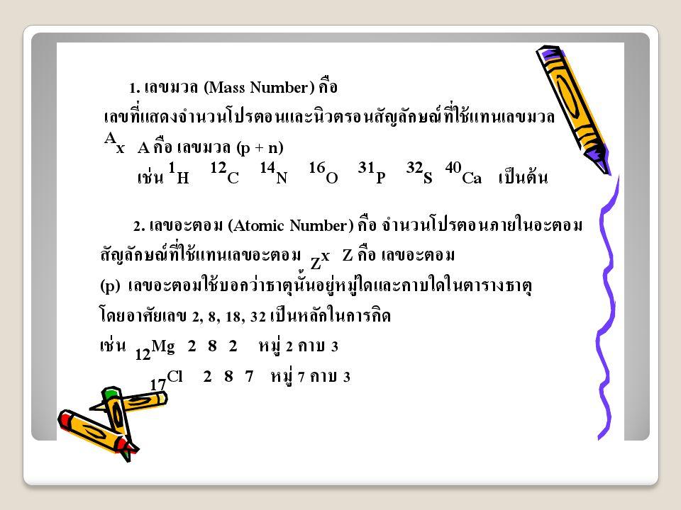 ตัวอย่าง จงจัดเรียงอิเล็กตรอนของธาตุ โบรมีน ( Br ) ธาตุโบรมีน (Br) มีเลขอะตอม = 35 แสดงว่า โบรมีน (Br) มีอิเล็กตรอน = 35 ตัว มีการจัดเรียงอิเล็กตอน เป็นดังนี้