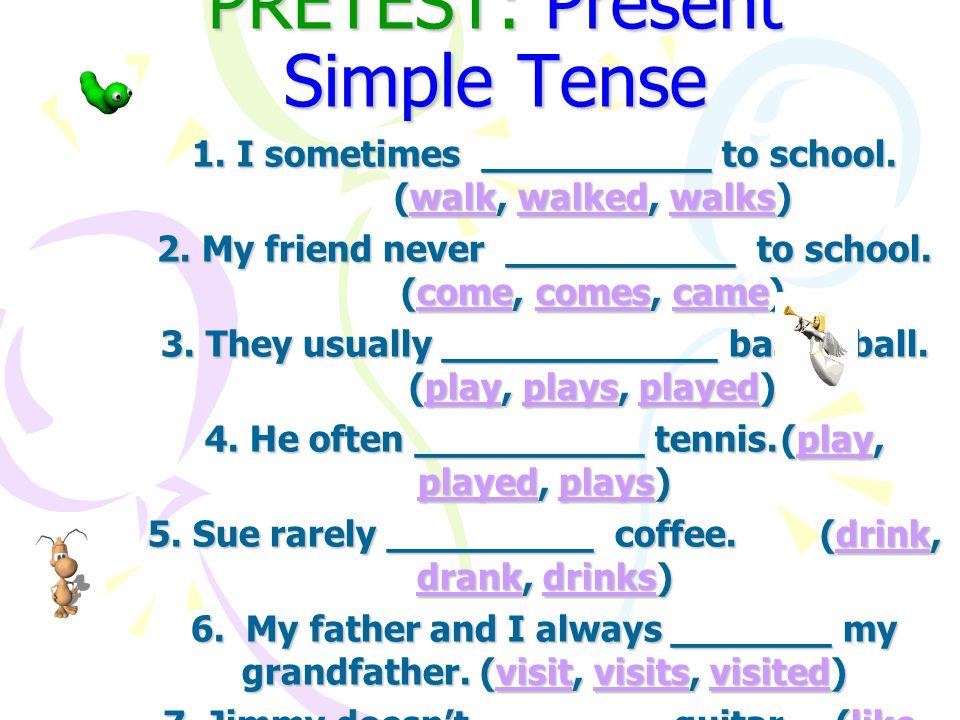 เขามีหลักการอยู่ว่า ใน Present Simple Tense ถ้าประธานเป็น เอกพจน์ (Singular) บุรุษที่ 3 (Third Person) กริยาต้องเติม s หรือ es แฮ่ ๆๆๆ นักเรียนอาจจะเริ่ม มีมี ง.