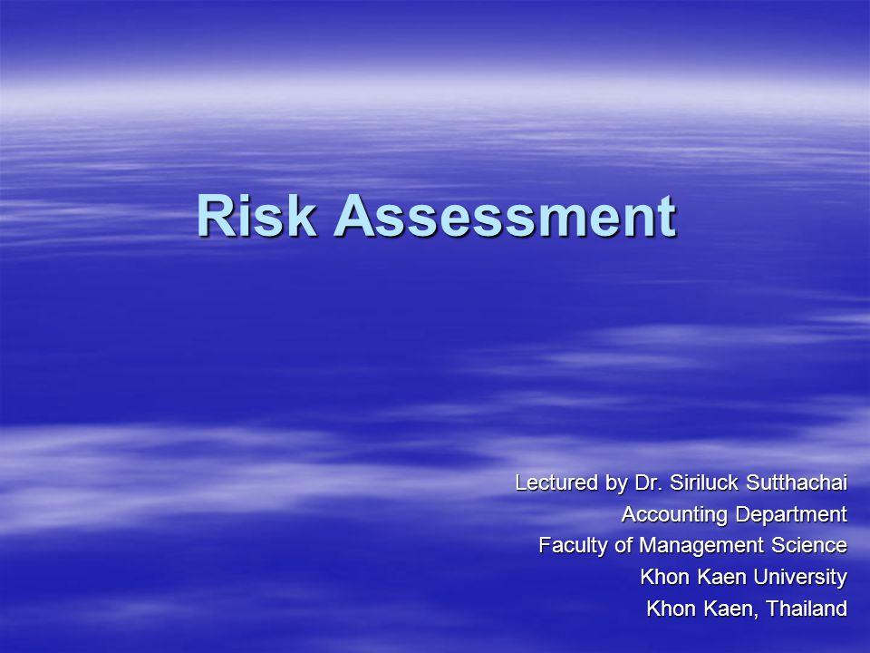 Risk Assessment 1.OBJECTIVE 4. AUDIT PROGRAM 3. RISK ASSESSMENT 2.