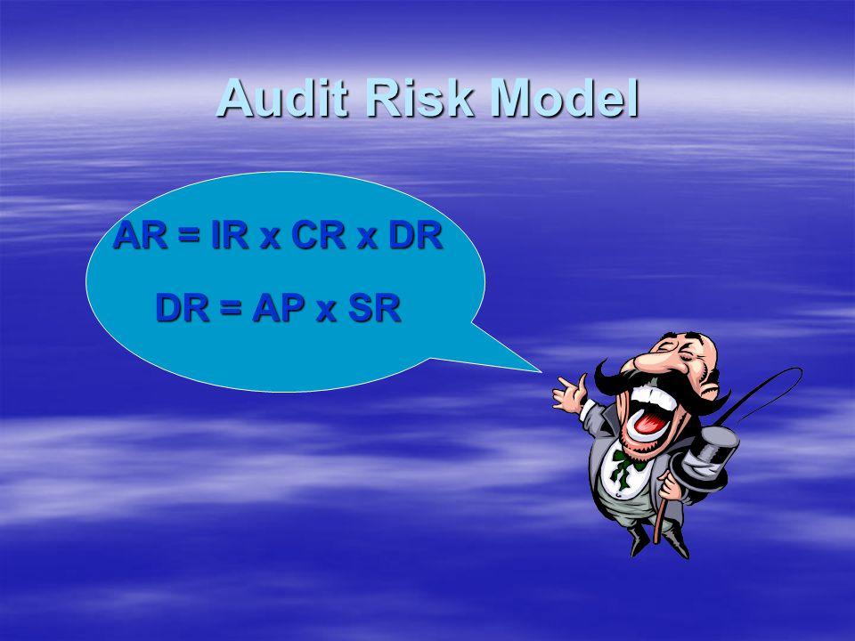 Audit Risk Model AR = IR x CR x DR DR = AP x SR
