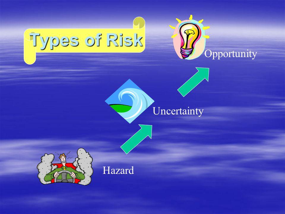 Types of Risk Hazard Uncertainty Opportunity