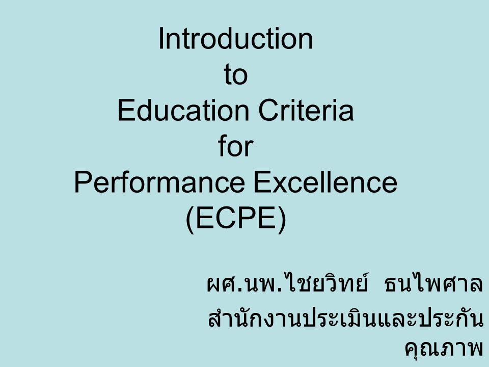 ประเด็นนำเสนอ 1. ECPE คือ อะไร 2. ทำไมจึงควรทำ ECPE ในองค์กรของเรา 3. ถ้าจะทำ จะต้องทำ อย่างไร