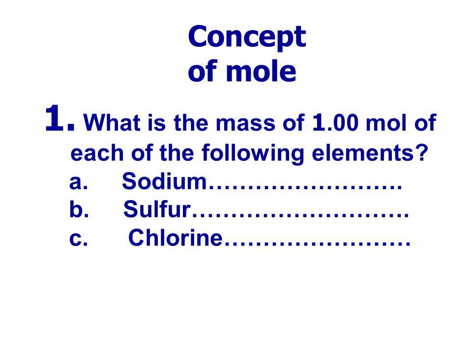 Ex. เฉลย 1.แก๊สโอโซน (O 3 ) = 0.208 mol, 1.25  10 23 molecule, 4.67 dm 3 ที่ STP 2.แก๊สคลอรีน (Cl 2 ) = 0.141 mol, 8.48  10 22 molecule, 3.15 dm 3 ท