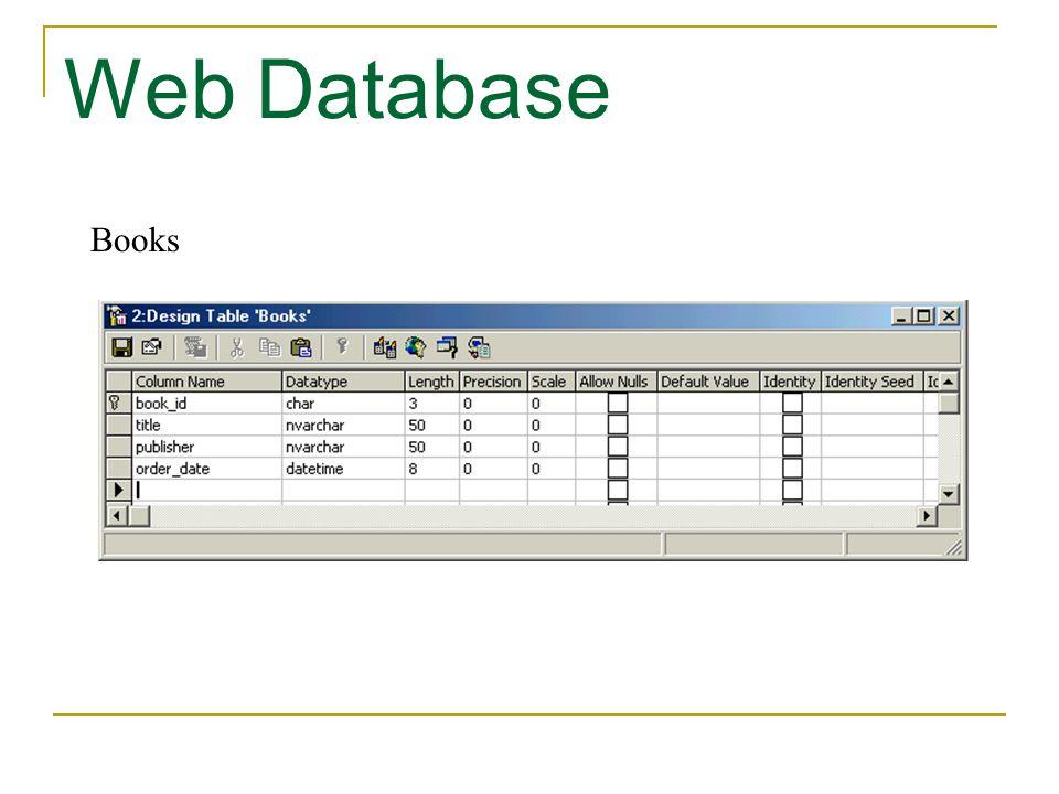 Web Database Books