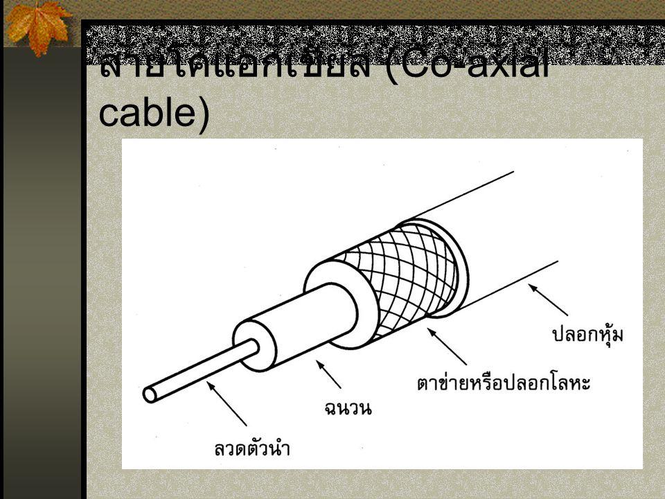 สายโคแอกเชียล (Co-axial cable)
