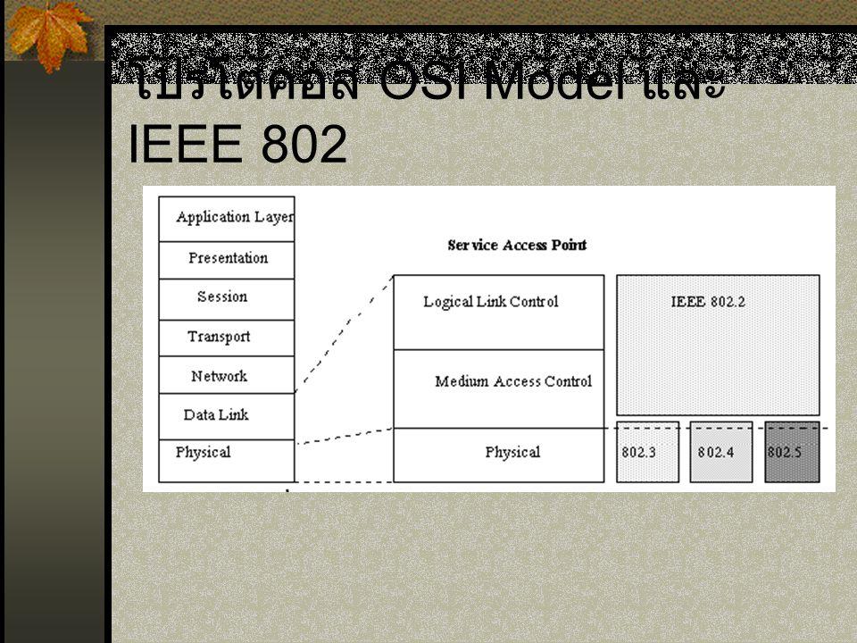 โปรโตคอล OSI Model และ IEEE 802
