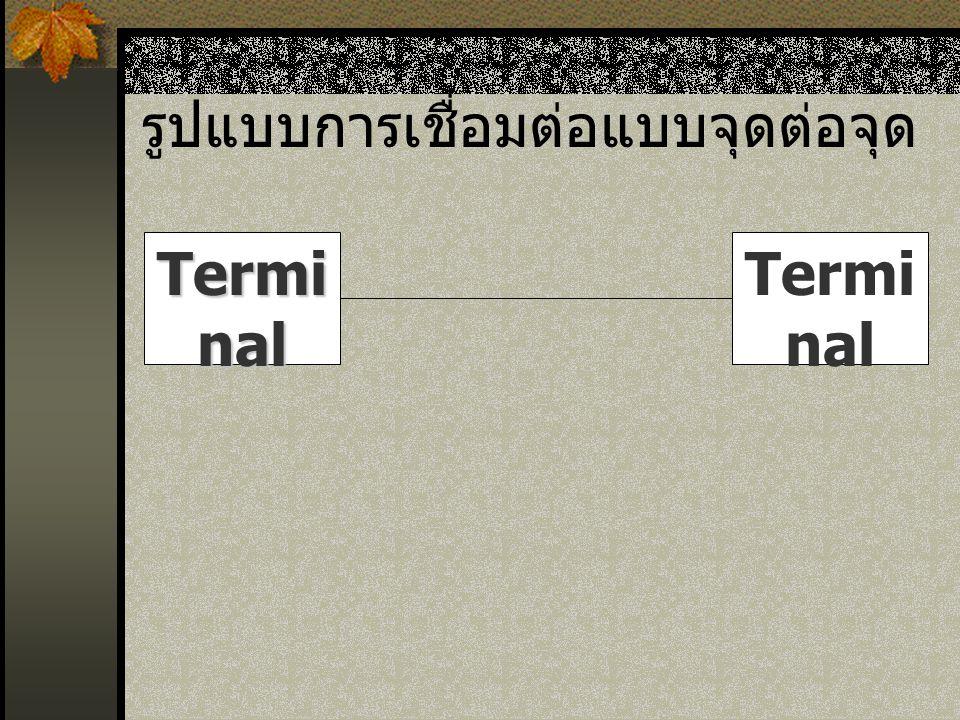 รูปแบบการเชื่อมต่อแบบจุดต่อจุด Termi nal