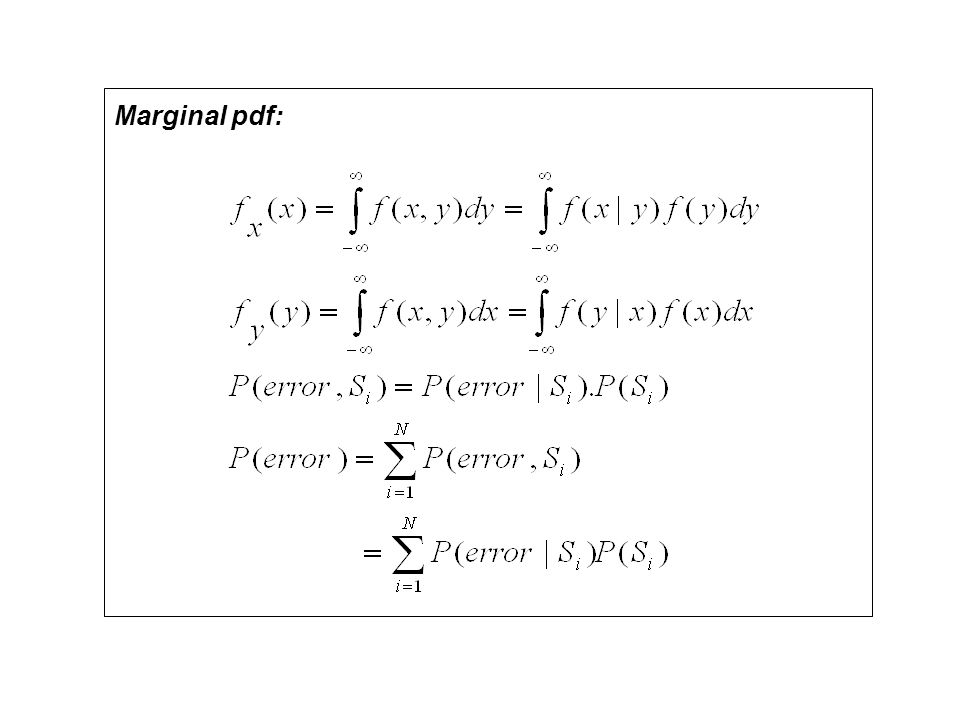 Importance of Gaussian PDF 1.Central Limit Theorem 2.