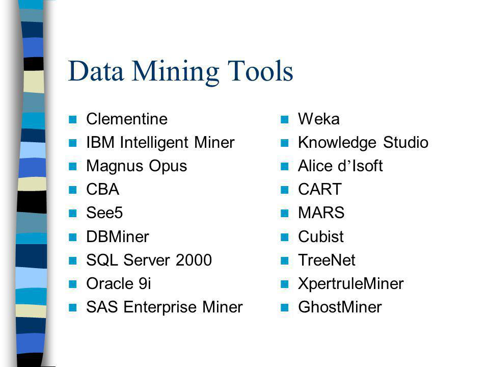 Data Mining Tools Clementine