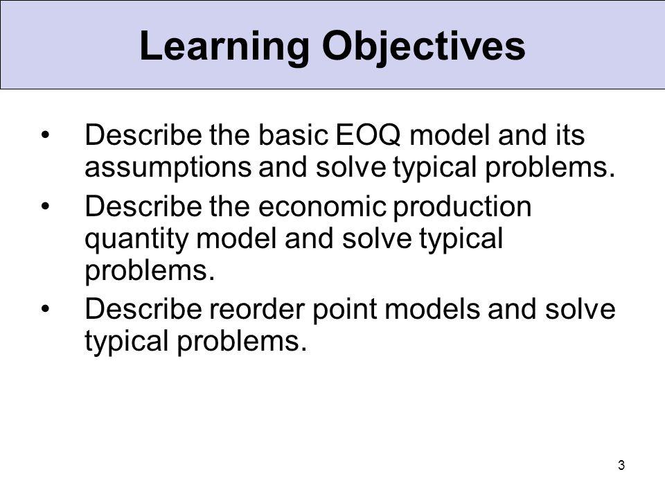 24 Cost Minimization Goal Order Quantity (Q) The Total-Cost Curve is U-Shaped Ordering Costs QOQO Annual Cost ( optimal order quantity)