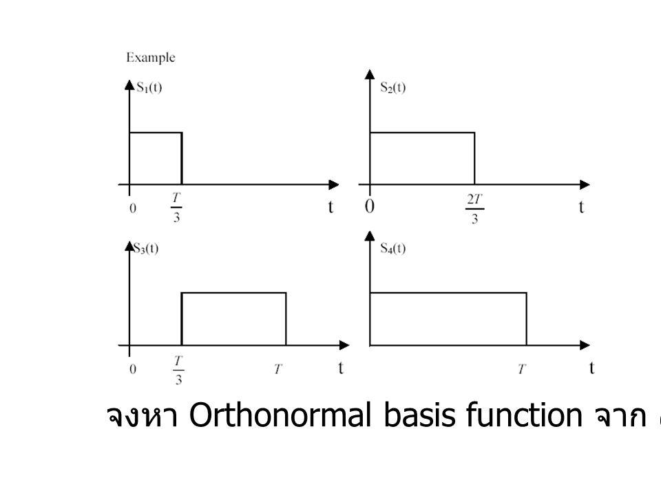 จงหา Orthonormal basis function จาก สัญญาณทั้งสี่