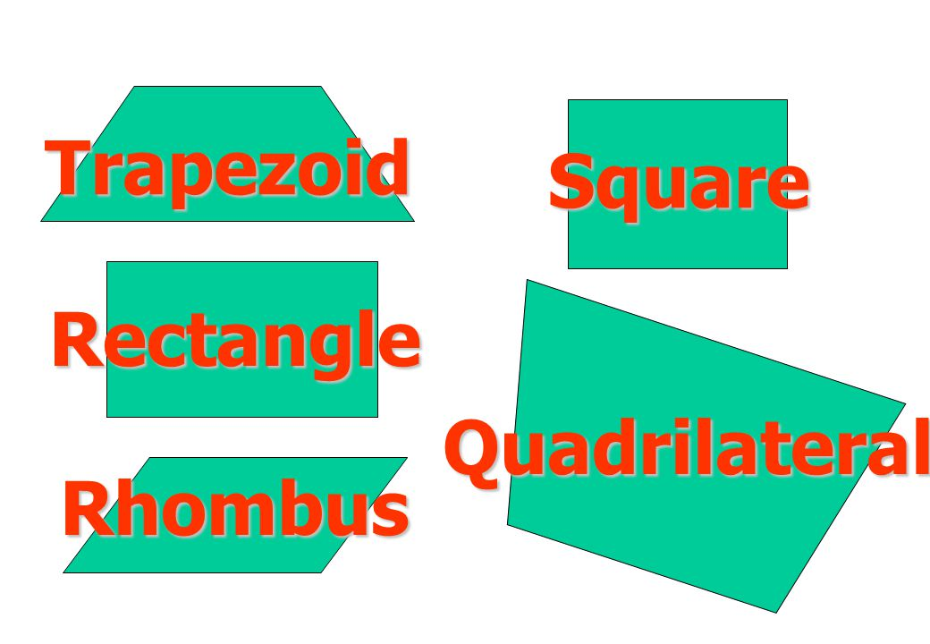 Trapezoid Rectangle Rhombus Square Quadrilateral