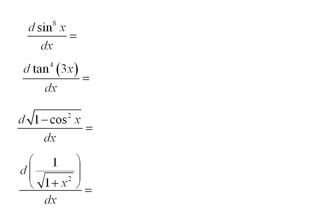 อนุพันธ์ของฟังก์ชันลอการิทึม และฟังก์ชันยกกำลัง Derivatives of logarithm and exponential functions นอกจากอนุพันธ์ของฟังก์ชันพหุนาม และ ฟังก์ชันตรีโกณมิติ แล้ว อนุพันธ์ ของฟังก์ชันลอการิทึม และ ฟังก์ชันยก กำลัง จะแสดงบทบาทมากในเรื่องการ หาอนุพันธ์, ปฏิยานุพันธ์ และ สมการ เชิงอนุพันธ์