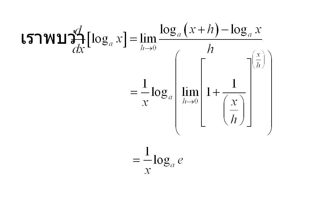 อนุพันธ์ ปริพันธ์ เมื่อ c เป็นค่าคงตัวใดๆ