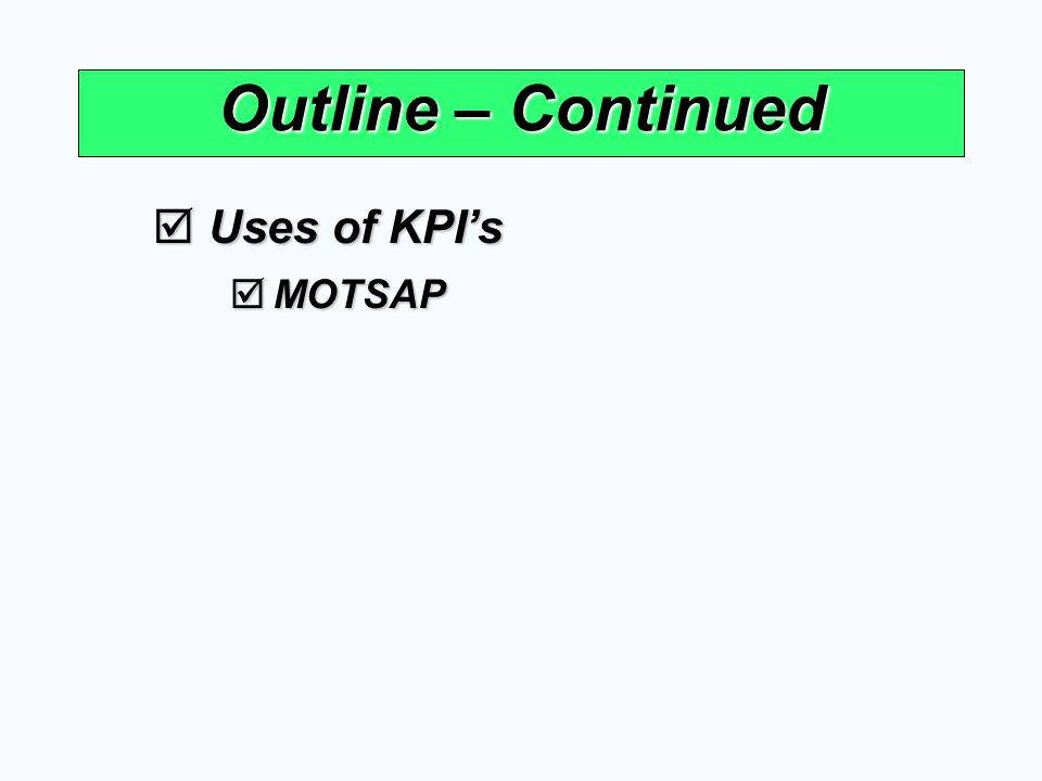 Quality KPI's  Average Rejection Case by Customer  Average Rejection Case by QA  Capability Index = 6SD USL - LSL USL = Upper Specification Limit LSL = Lower Specification Limit SD = Standard Deviation Uncontrollable Controllable Good Control 1.00 1.33