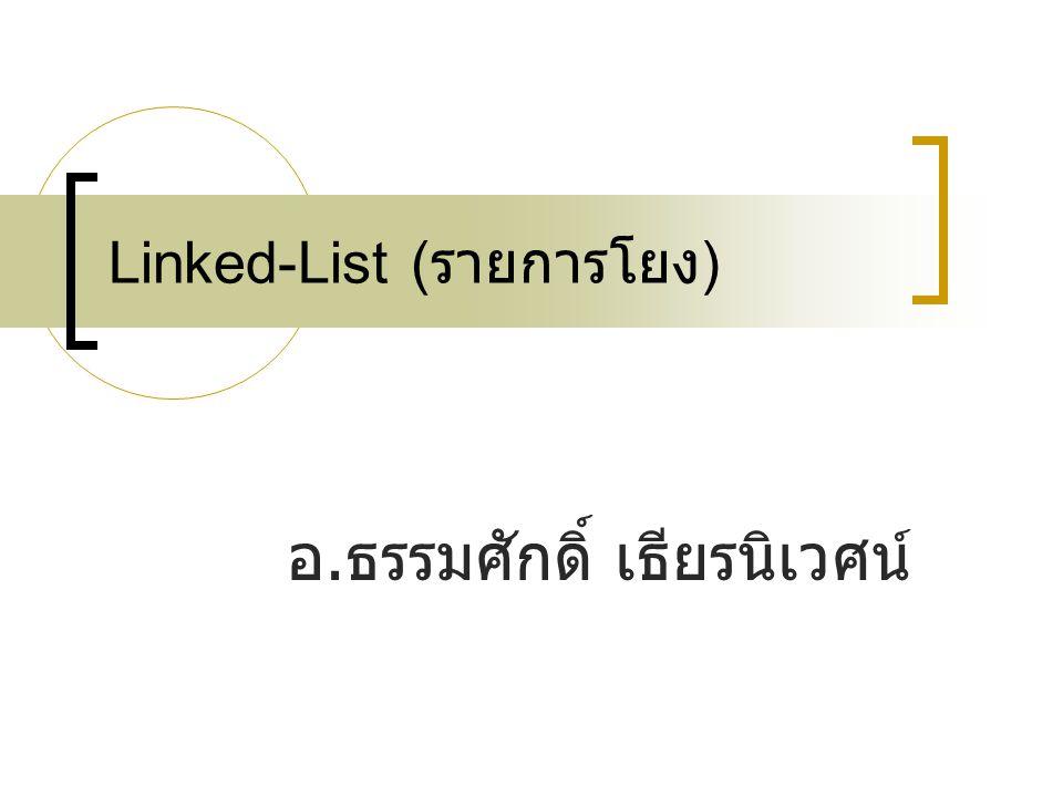 204311 File Management & Data Structure2 Agenda Static List  CreateList( การสร้างรายการว่าง )  isEmpty( ทดสอบว่ารายการว่างหรือไม่ )  insertList( การเพิ่มสมาชิกใหม่ลงในรายการ )  deleteList( การลบสมชิกออกจากรายการ )  Traverse( การเข้าถึงสมาชิกของรายการ ) Dynamic List (Linked-List)  CreateList( การสร้างรายการว่าง )  isEmpty( ทดสอบว่ารายการว่างหรือไม่ )  insertList( การเพิ่มสมาชิกใหม่ลงในรายการ )  deleteList( การลบสมชิกออกจากรายการ )  Traverse( การเข้าถึงสมาชิกของรายการ )
