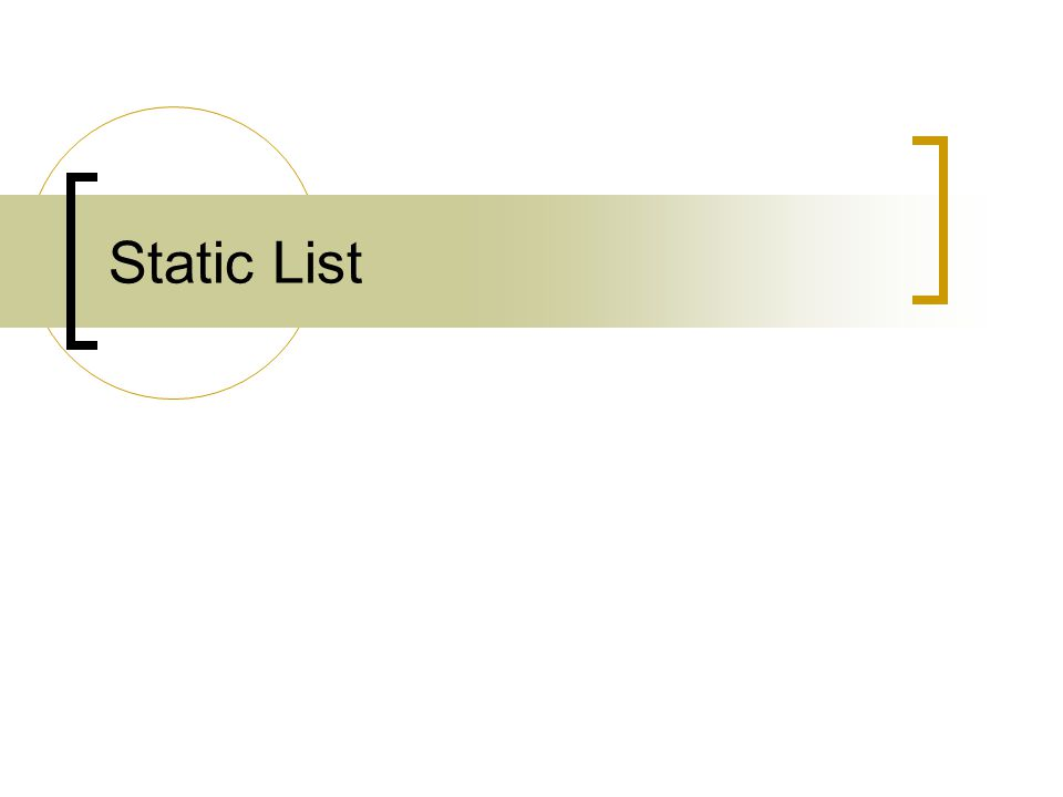 204311 File Management & Data Structure5 Static List CreateList( การสร้างรายการว่าง ) isEmpty( ทดสอบว่ารายการว่างหรือไม่ ) insertList( การเพิ่มสมาชิกใหม่ลงใน รายการ ) deleteList( การลบสมชิกออกจากรายการ ) Traverse( การเข้าถึงสมาชิกของรายการ )