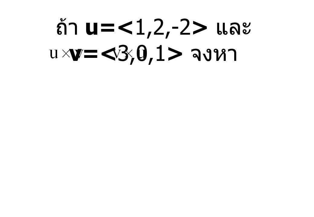 ถ้า u= และ v= จงหา