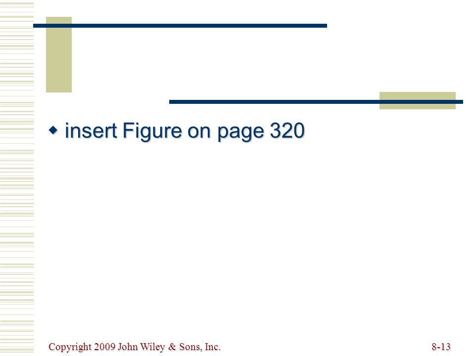 Copyright 2009 John Wiley & Sons, Inc.8-13  insert Figure on page 320