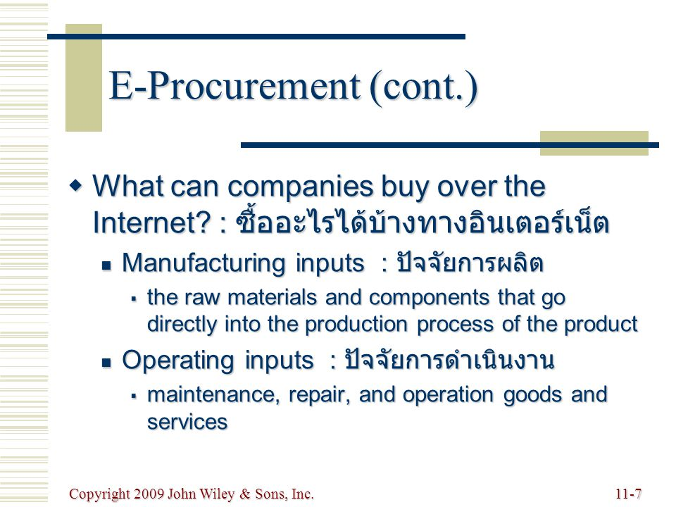 Copyright 2009 John Wiley & Sons, Inc.11-28 China's Increasing Role in the Global Supply Chain  World's premier sources of supply  Abundance of low-wage labor  World's fastest growing market  Regulatory changes have liberalized its market  Increased exporting of higher technology products