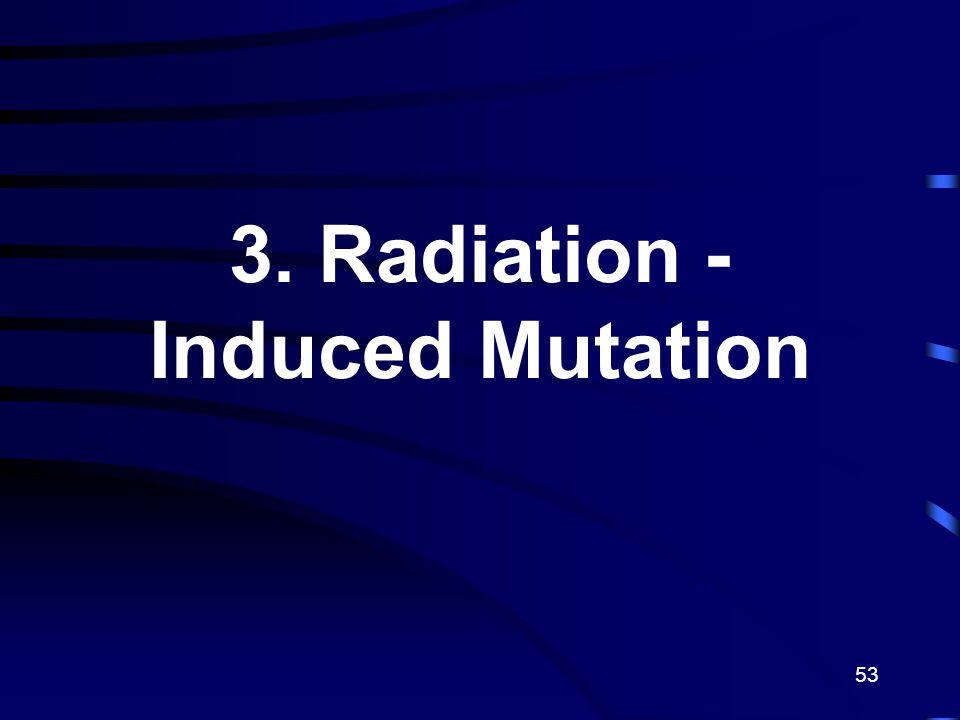 53 3. Radiation - Induced Mutation