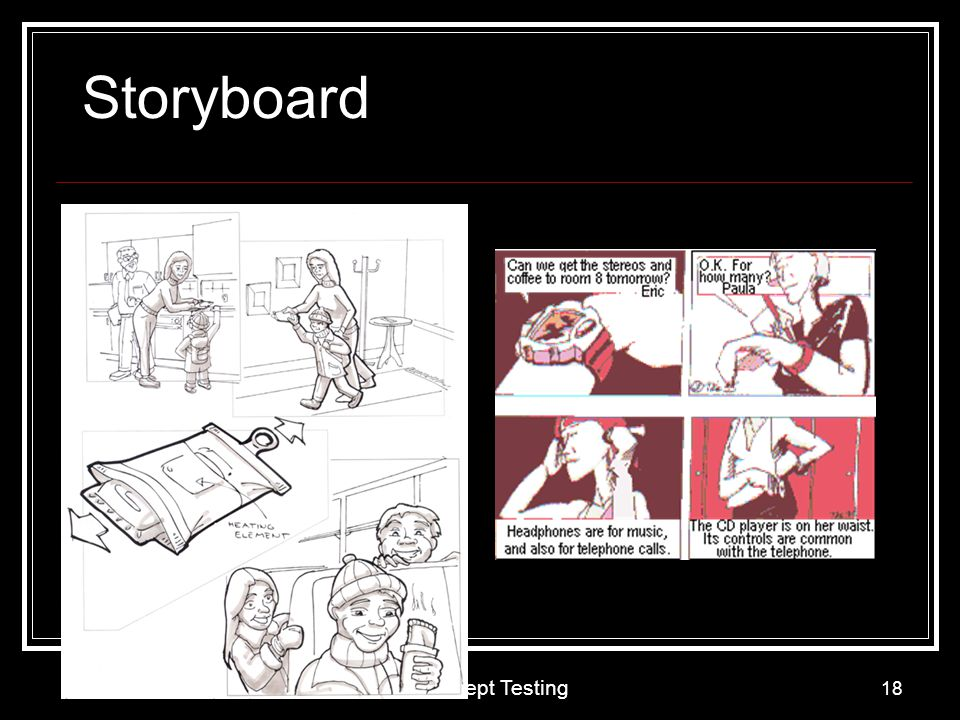Concept Testing 18 Storyboard