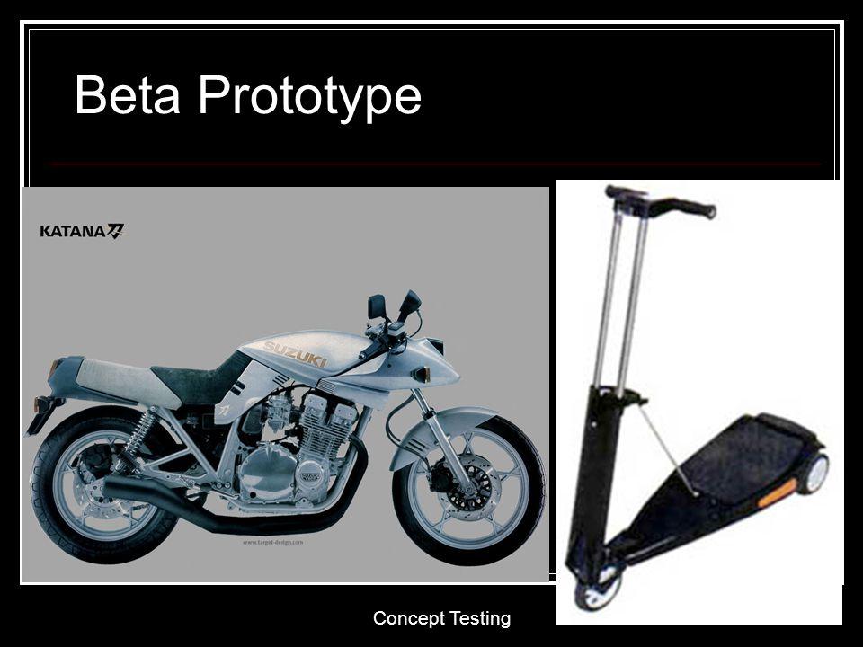 Concept Testing 22 Beta Prototype
