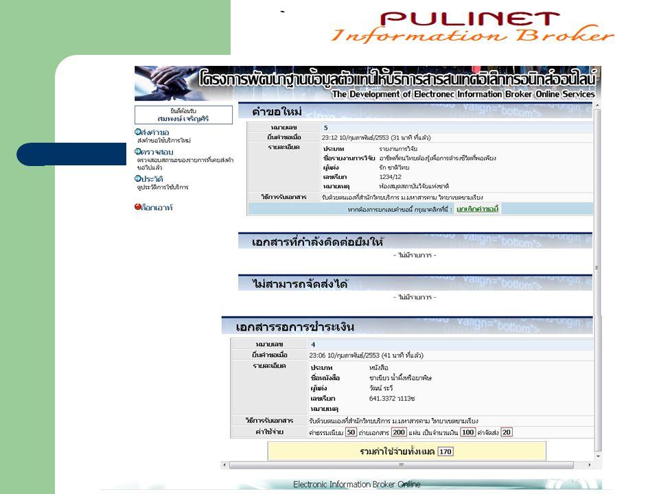 1.2 ส่วนเจ้าหน้าที่ปฏิบัติงาน ( http://copper.msu.ac.th/ibo/admin ) http://copper.msu.ac.th/ibo/admin