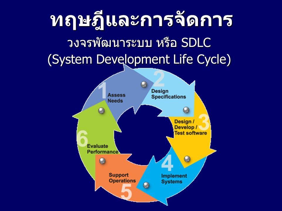 ทฤษฎีและการจัดการ วงจรพัฒนาระบบ หรือ SDLC (System Development Life Cycle)