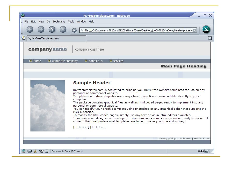 HTML welcome.html myself.htmlmotorexpo.htmllinks.html