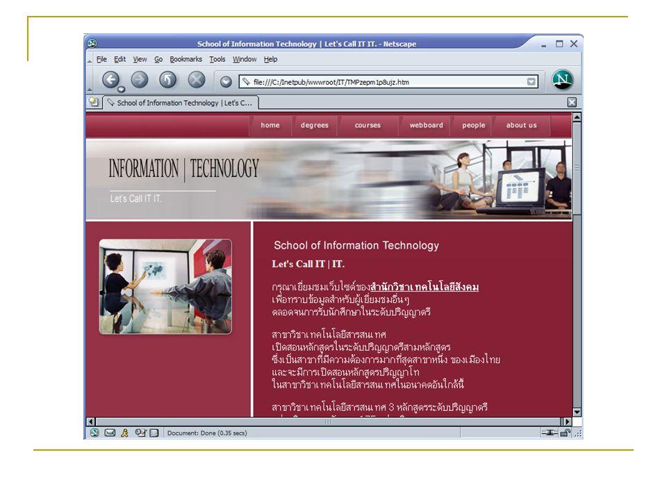 World Wide Web Web Server & Web Browser www.sut.ac.th