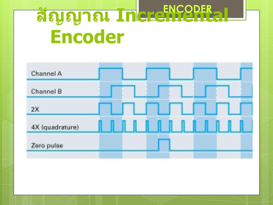 สัญญาณ Incremental Encoder ENCODER