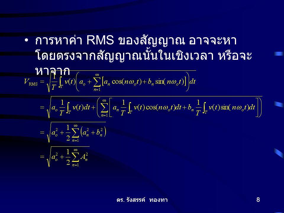 ดร. รังสรรค์ ทองทา 8 การหาค่า RMS ของสัญญาณ อาจจะหา โดยตรงจากสัญญาณนั้นในเชิงเวลา หรือจะ หาจาก