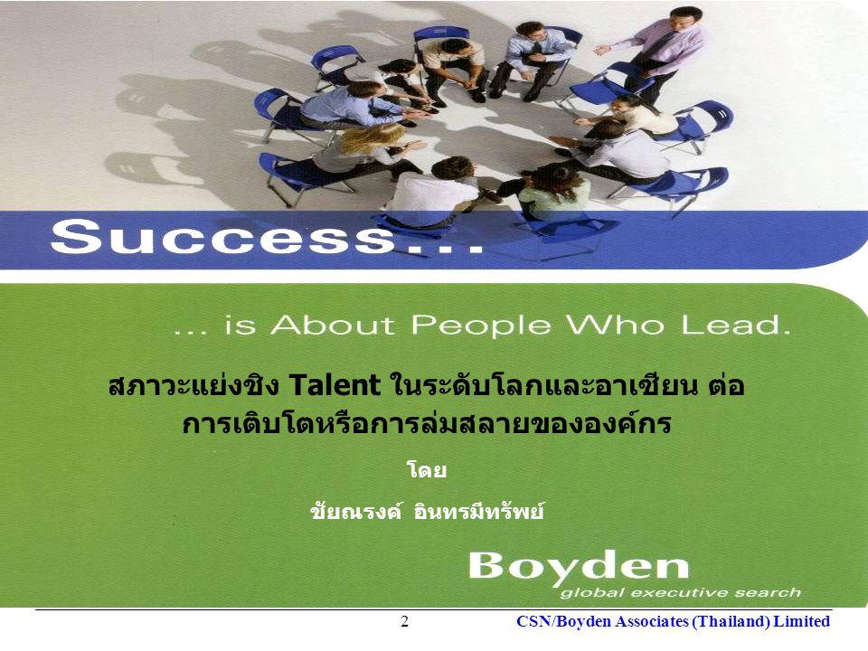 Your Local Partner Worldwide global executive search Your Local Partner Worldwide global executive search CSN/Boyden Associates (Thailand) Limited13