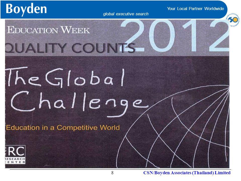 Your Local Partner Worldwide global executive search Your Local Partner Worldwide global executive search CSN/Boyden Associates (Thailand) Limited9
