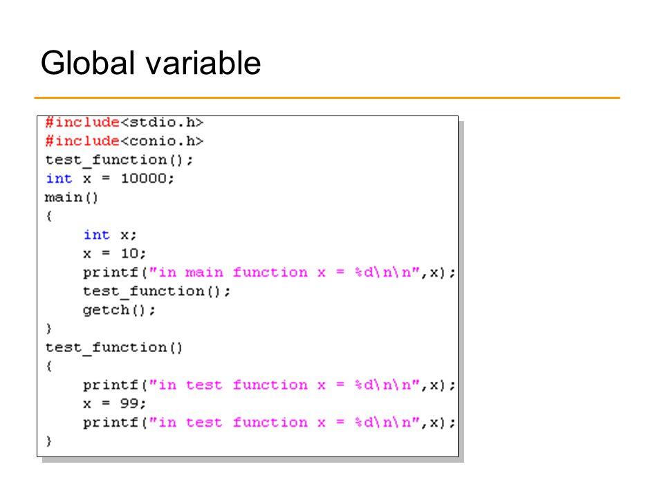Global variable
