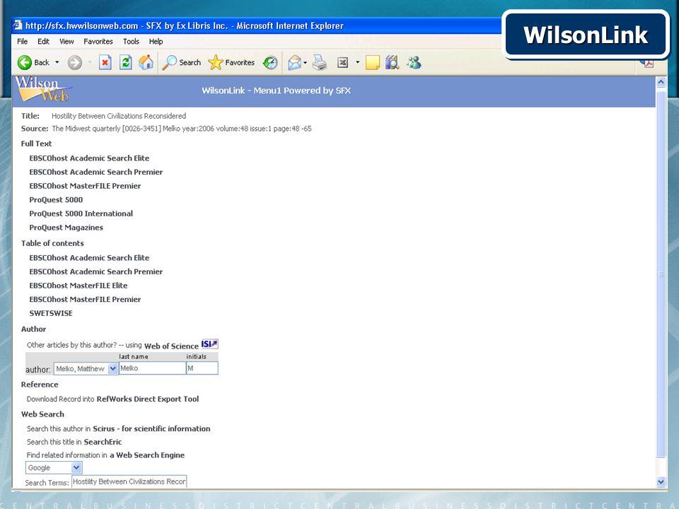 WilsonLinkWilsonLink