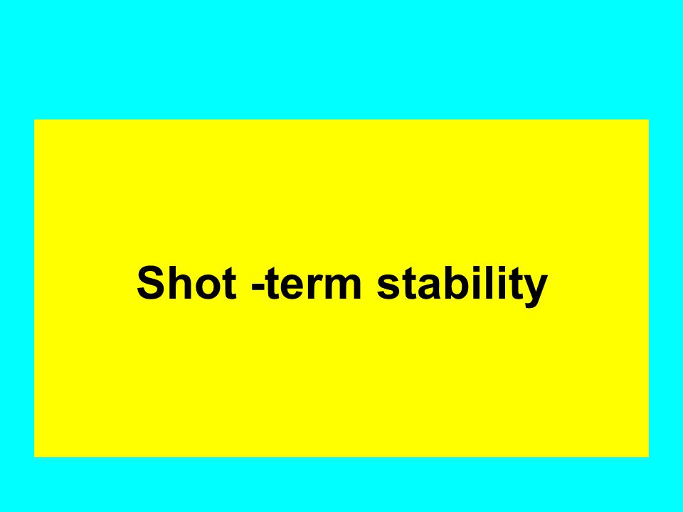 Shot -term stability