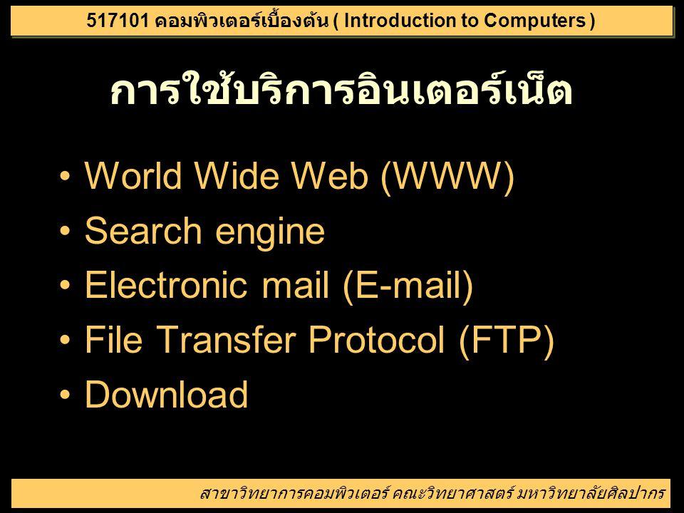 เครือข่ายคอมพิวเตอร์ที่มีเครื่อง คอมพิวเตอร์ต่อเชื่อมกันมากที่สุดใน โลก โดยมีบริการสำคัญๆ เช่น WWW, E-mail, FTP สาขาวิทยาการคอมพิวเตอร์ คณะวิทยาศาสตร์
