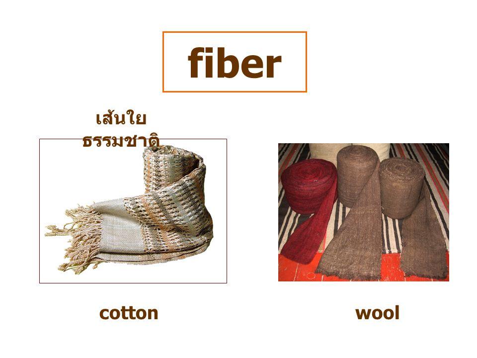 fiber เส้นใย ธรรมชาติ cottonwool